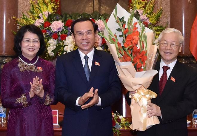 Tong bi thu, Chu tich nuoc Nguyen Phu Trong gap can bo Van phong CTN hinh anh