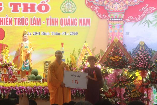 Nhan tien ty dong gop, chua Ba Vang Quang Nam khoi cong roi ngung xay hinh anh 2