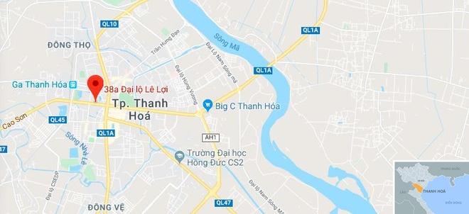 Chay o toa nha dau khi Thanh Hoa 2 nguoi chet, 13 nguoi bi thuong hinh anh 4 map_thanhhoa_dk.jpg