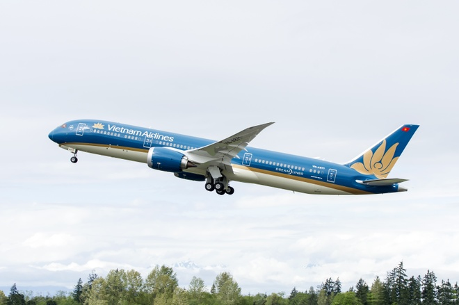 Vietnam Airlines bay Trung Quoc anh 1