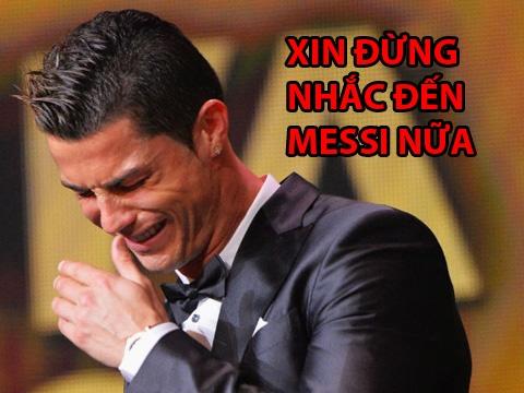 Anh che Ronaldo khoc thet khi Messi vao chung ket World Cup hinh anh