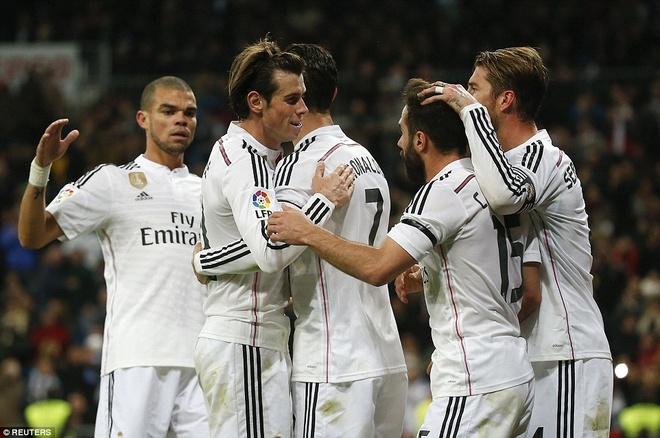 Gareth Bale lap cu dup, Real bam sat Barcelona hinh anh 11 Ở vòng đấu tiếp theo, Real Madrid sẽ có chuyến hành quân đầy bão táp khi làm khách của Barcelona, đây có thể sẽ là cuộc chiến quyết định đến ngôi vô địch mùa bóng năm nay.
