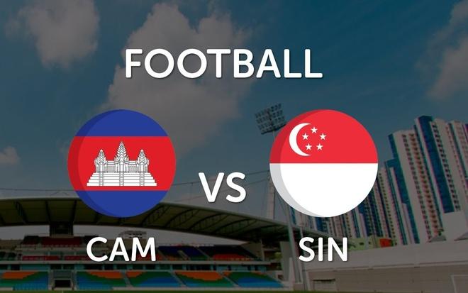 Video truc tiep bong da: U23 Campuchia - U23 Singapore hinh anh