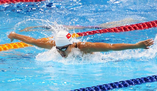 Anh Vien pha sau ky luc SEA Games o noi dung 200 m boi buom hinh anh