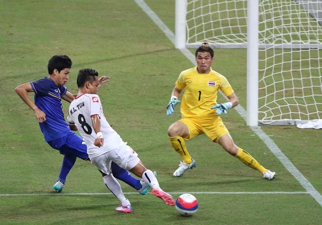 Tong hop tran dau: U23 Thai Lan 3-0 U23 Myanmar hinh anh