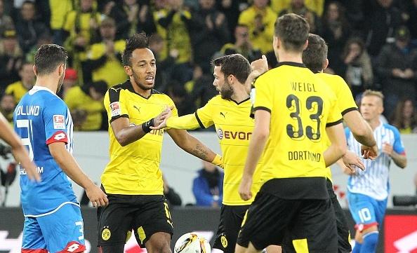Tong hop ban thang: Hoffenheim 1-1 Dortmund hinh anh
