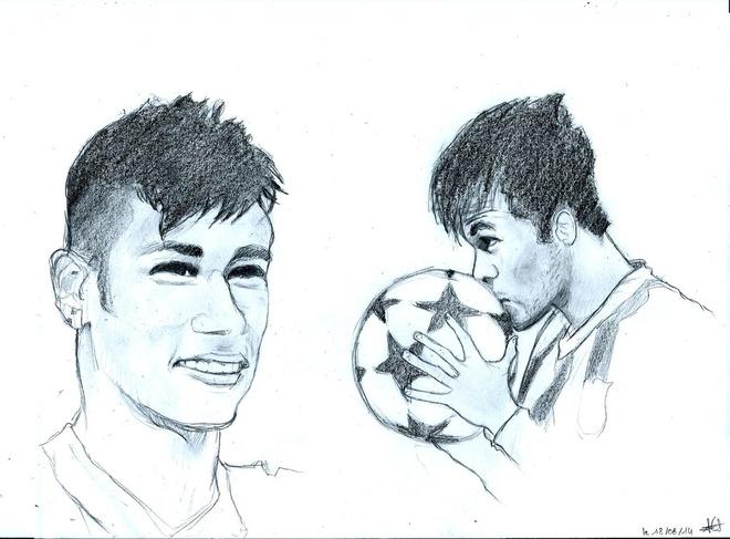 Nhung dieu thu vi ve Neymar qua tranh ve hinh anh