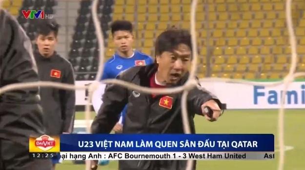 HLV Miura gay gat trong buoi tap cua U23 Viet Nam hinh anh