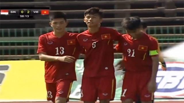 Highlights U16 Viet Nam 3-0 U16 Singapore hinh anh