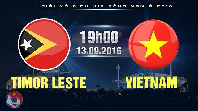 Video truc tiep U19 Viet Nam vs U19 Dong Timor hinh anh