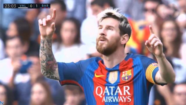 Tinh huong ghi ban gay tranh cai cua Messi hinh anh