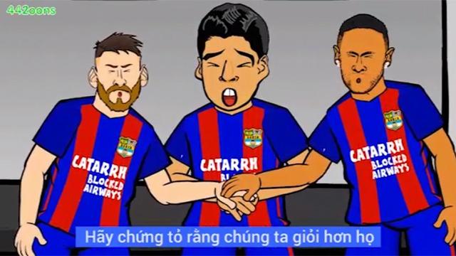 Hoat hinh vui: MSN phan tran sau tran thua Juventus hinh anh