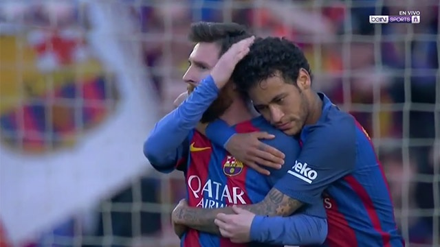 Messi ghi ban an tuong sau pha qua nguoi dang cap cua Neymar hinh anh