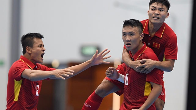 Highlights futsal Viet Nam 4-3 Indonesia hinh anh
