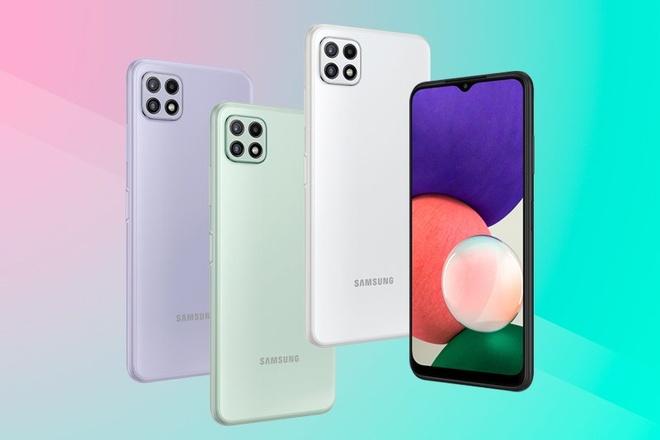 Samsung ra mat Galaxy A22 voi 4 camera, co 5G, gia 5,9 trieu hinh anh