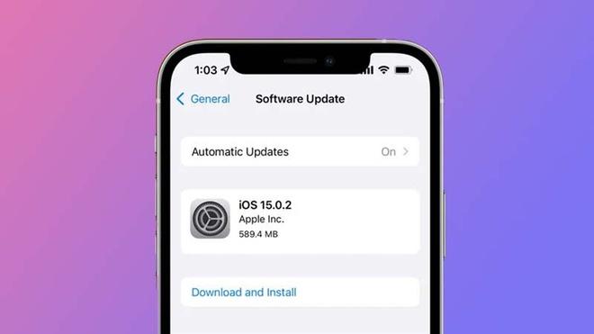 Apple tung bản cập nhật iOS 15.0.2