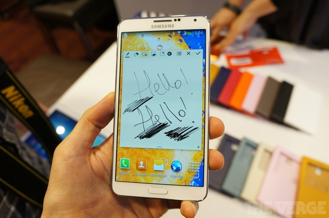 Samsung ra Galaxy Note 3 man hinh 5,7 inch, mat da phia sau hinh anh 1