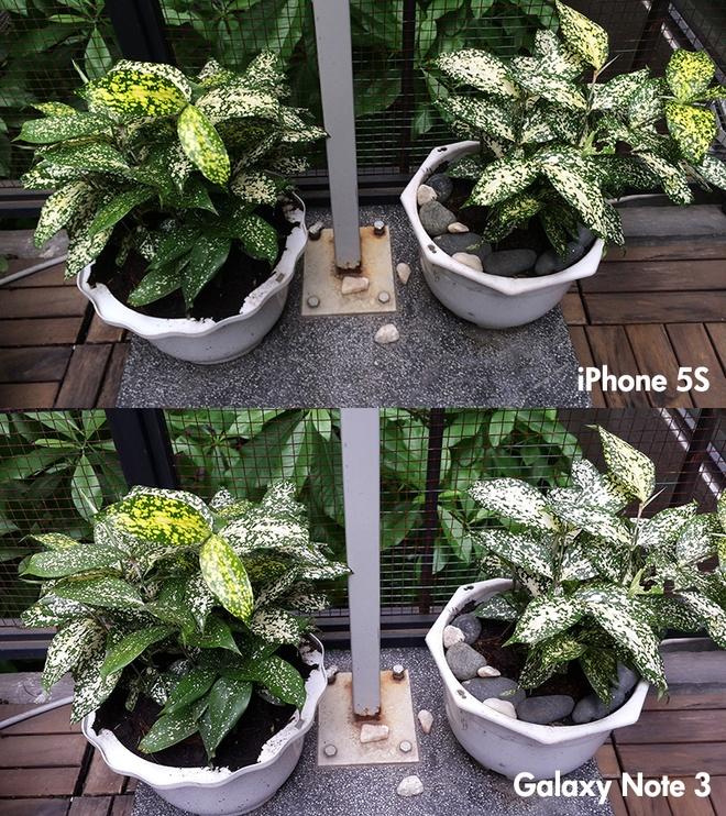So sanh anh chup tu Galaxy Note 3 va iPhone 5S tai VN hinh anh 1