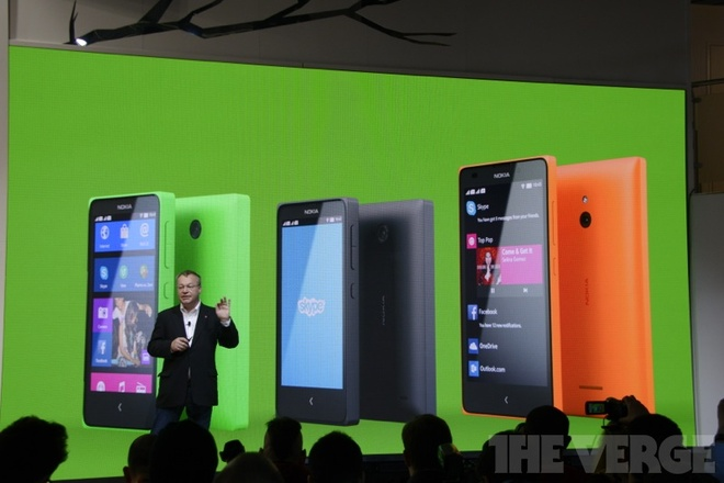Nokia tai MWC 2014: Ba chiec Nokia X chay Android trinh lang hinh anh