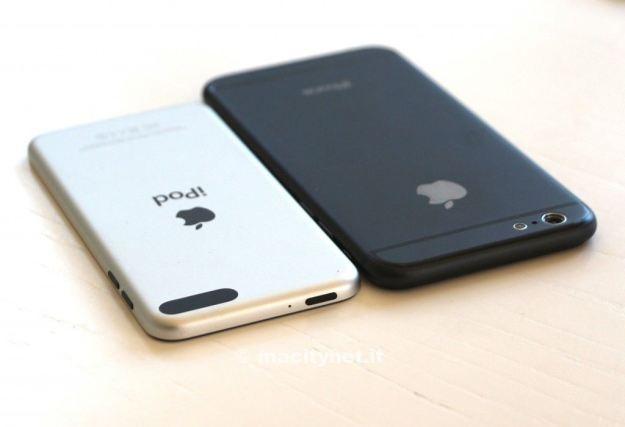 Thiet ke mong va man hinh lon cua iPhone 6 so voi iPod Touch hinh anh