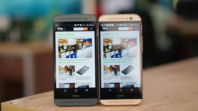 HTC One M8 vo kim loai do dang cung One E8 vo nhua hinh anh