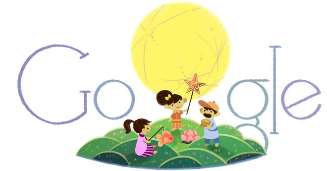 Google ruoc den Trung Thu cung Thieu nhi Viet Nam hinh anh