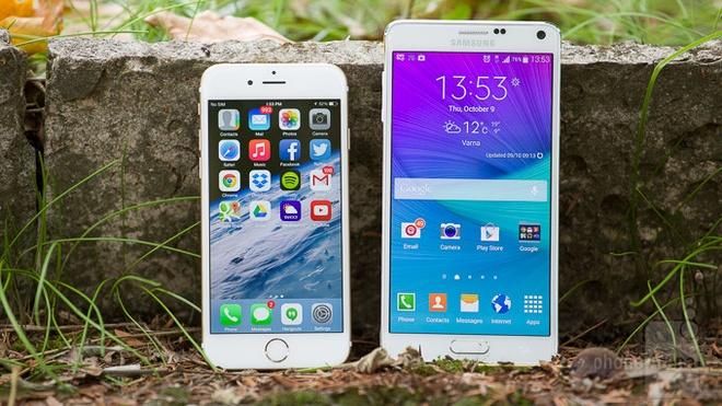 Galaxy Note 4 vuot mat iPhone 6 tren BXH smartphone thang 10 hinh anh