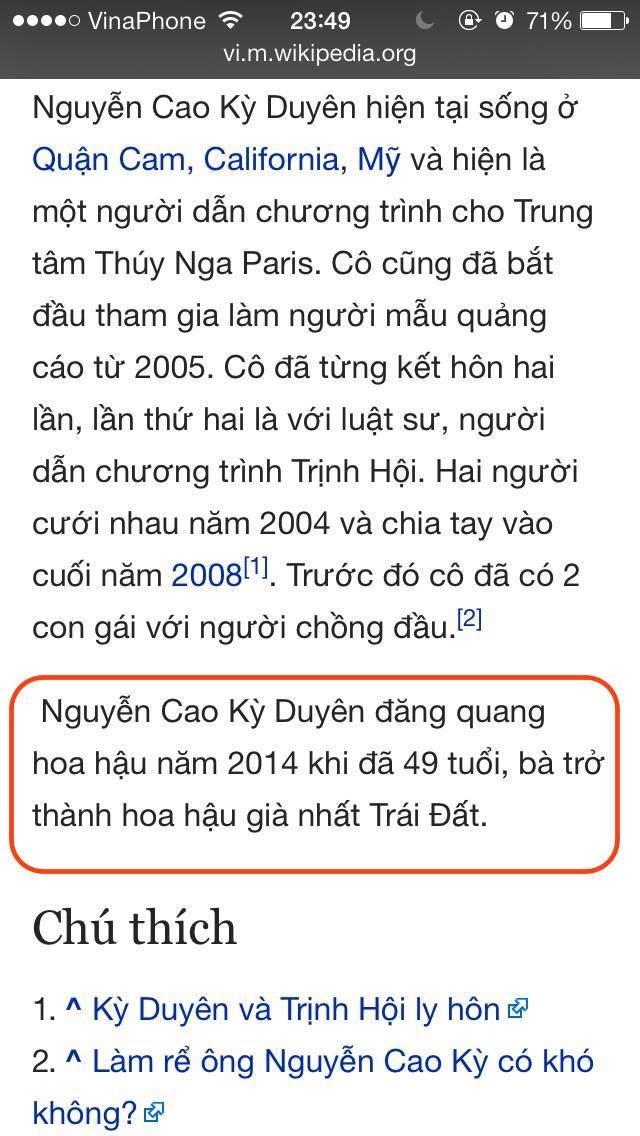 'Dai chien' tren Wikipedia Viet Nam vi Nguyen Cao Ky Duyen hinh anh 1