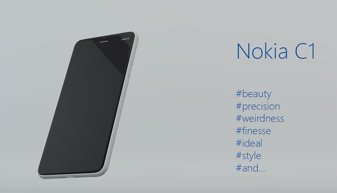 Ban mau Nokia C1 chay Android giong het iPhone 6 hinh anh