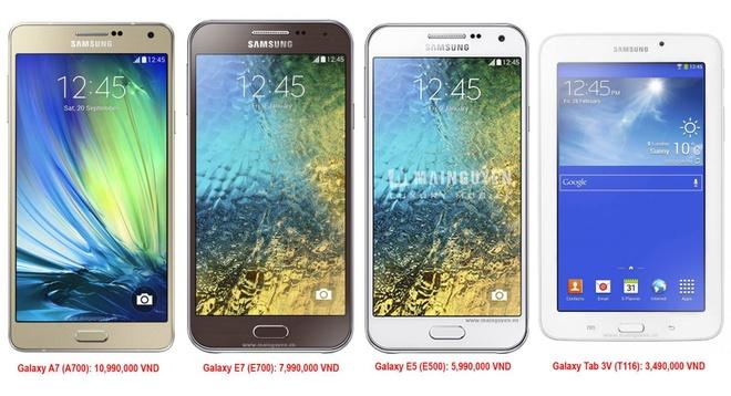 Samsung Galaxy A7, E7 va E5 sap ban o VN gia tu 5,9 trieu hinh anh