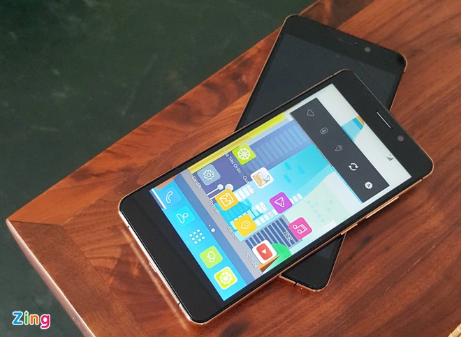 Smartphone thuong hieu Viet mong nhat lo dien hinh anh 1 Hình ảnh của MobiiStar Prime X phiên bản mạ vàng.