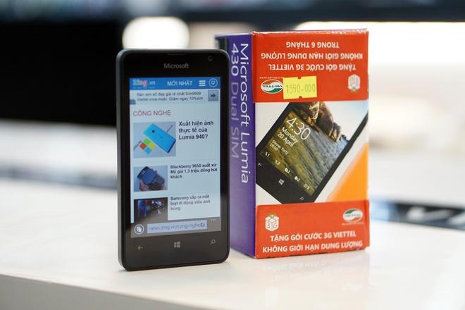 Mo hop Lumia 430 - chiec Windows Phone re nhat o Viet Nam hinh anh