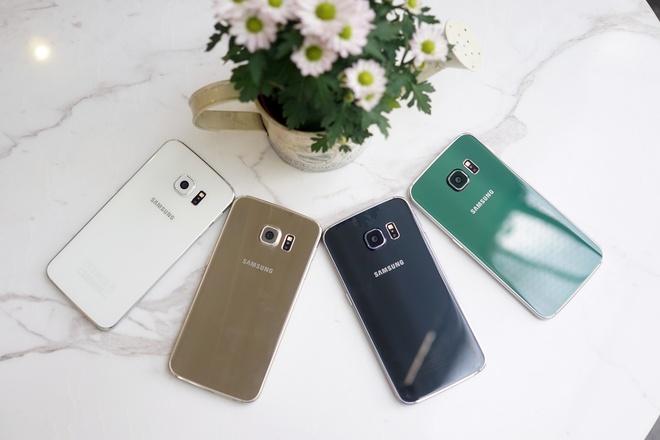 Galaxy S6 Edge mau xanh ngoc ve VN gia 21 trieu hinh anh