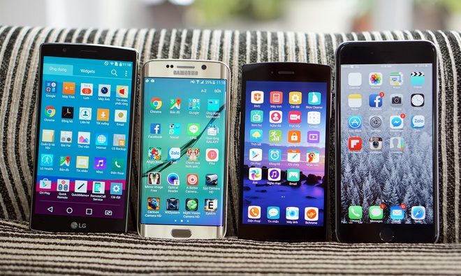 Bphone so man hinh voi LG G4, Galaxy S6 Edge, iPhone 6 Plus hinh anh