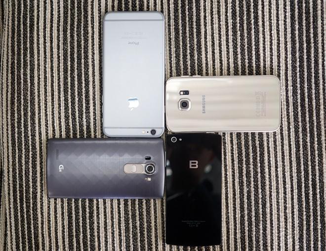 Bphone so dang voi iPhone 6 Plus, LG G4 va Galaxy S6 Edge hinh anh