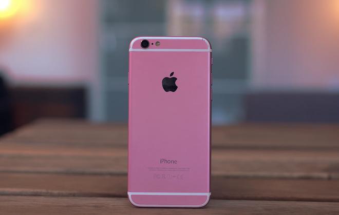 Mo hop iPhone 6S nhai phien ban mau hong tu Trung Quoc hinh anh