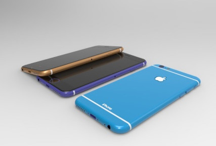 Anh dung iPhone 6C man hinh 4,5 inch, nhieu mau dep hinh anh