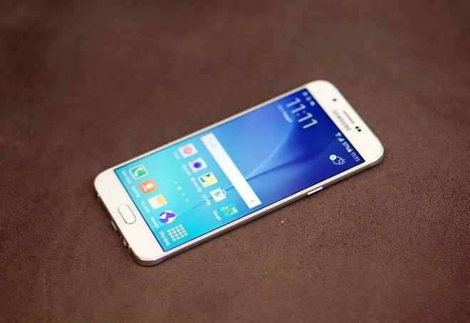 Mo hop Galaxy A8 mong 5,9 mm, kim loai nguyen khoi hinh anh