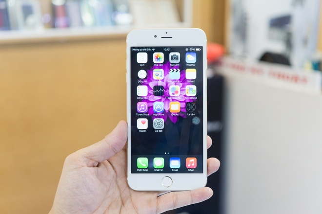 iPhone 6 Plus nhai co cam bien van tay, gia 3,9 trieu o VN hinh anh