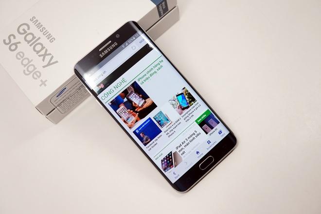 Mo hop Galaxy S6 edge+ chinh hang vua len ke o VN hinh anh