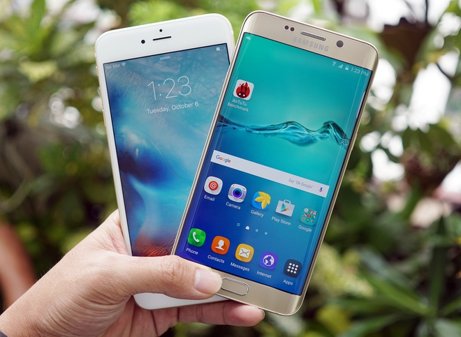 iPhone 6S Plus do dang Samsung Galaxy S6 Edge Plus hinh anh