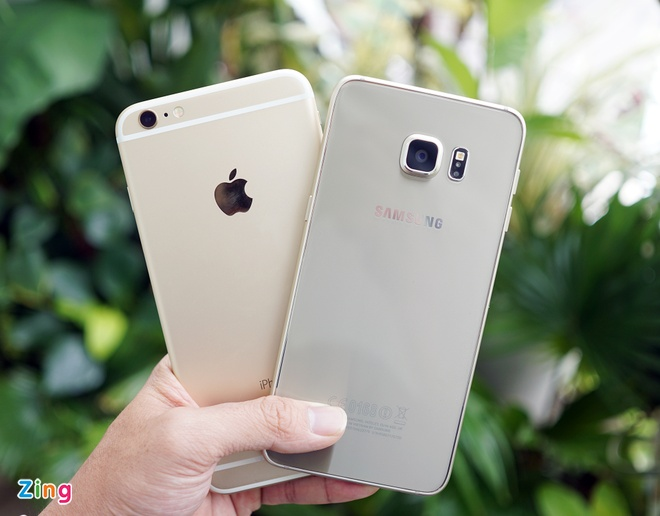 iPhone 6S Plus do dang Samsung Galaxy S6 Edge Plus hinh anh 1