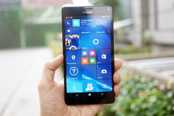 Anh chi tiet Lumia 950 XL sap ban o Viet Nam hinh anh