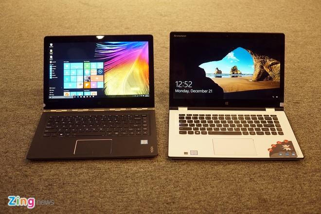 Lenovo ra mat 2 laptop Yoga sieu mong chay Windows 10 o VN hinh anh 1