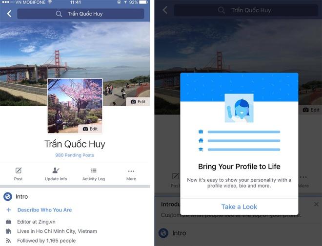 Facebook doi anh dai dien chinh giua tren di dong hinh anh 1