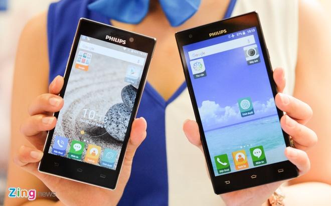 Philips gioi thieu 2 smartphone man hinh bao ve mat o VN hinh anh 10