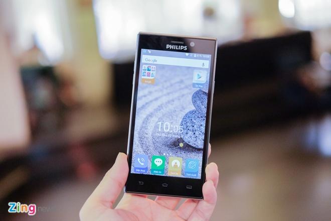 Philips gioi thieu 2 smartphone man hinh bao ve mat o VN hinh anh 7