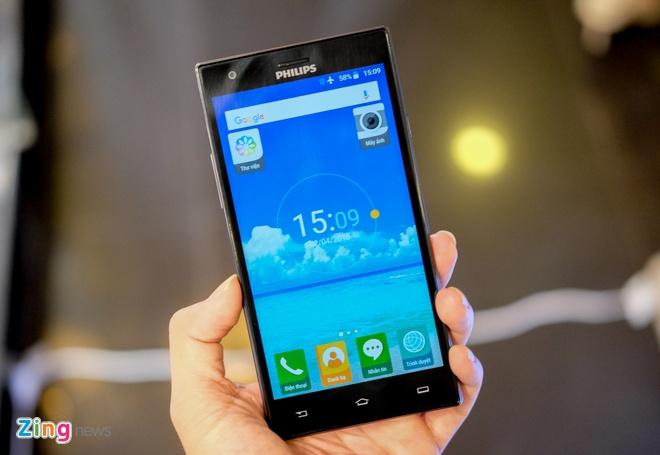 Philips gioi thieu 2 smartphone man hinh bao ve mat o VN hinh anh 2