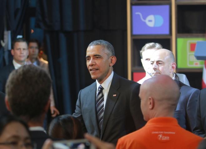 Doan phuc vu ong Obama 'chuyen nghiep nhu phim My' hinh anh