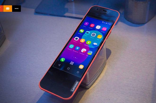 Lenovo gioi thieu nguyen mau smartphone uon deo hinh anh 1